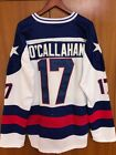 NEw Movie Men 1980 Miracle On Ice Team USA Jack OCallahan 17 Hockey Jersey whi