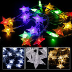 20 LED Christmas Snowflake Star Fairy String Curtain Light Wedding Party Decor