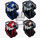 GRIM REAPER SKELETON  MULTIPLE COLORS IRON/SEW ON BIKER MOTORCYCLE PATCHES BADGE