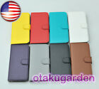 PU Leather Flip Case Cover Credit card holder For apple iPhone SE 5s 8 color