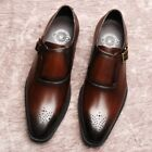 Retro Men's Real Leather Oxfords Leather Formal Brogues Dress Shoes Brogues New