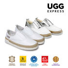 UGG Kids Breathe Soft Leather Shoes, Slip On Comfort Loafer, Cushioned Sole