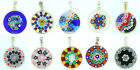 Murano Glass Handmade Sterling Silver Pendant From Venice Various Colours