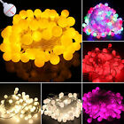 100 LED Balloon Bulb Ball Xmas Lights Curtain Lamp String Wedding Party Outdoor