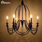 Wrongth Iron Candle Chandelier Ceiling Lighting Fixtures LED Shade Pendant Lamp