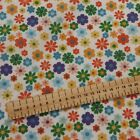 Flowers Floral Polycotton fabric 44 inch / 110cm FQ Half Metres Free Postage