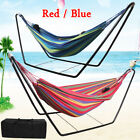 Double Hammock/stand Optional Garden Swinging Steel Frame Chair Outdoor Camping