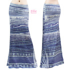 Women's LONG SKIRT Denim Print Sublimation Maxi (S/M/L/XL/1XL/2XL/3XL)