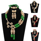 Fashion Design Real Coral Beads Jewelry Set African Women Wedding Party Necklace
