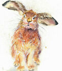 HELEN ROSE Limited Print of my RESTING HARE watercolour 468