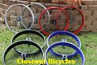 "Silver Black Red Blue Fat Tire Cruiser Bicycle Coaster Wheelset 26""X4 Rims"