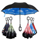 Inverted Umbrella C Handle Double Layer Windproof Folding Upside Down Reverse BB