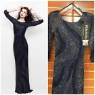 NWT PRIMAVERA COUTURE 1757 QUATER SLEEVE MIDNIGHT  BLUE OMBER GOWN $599 ALL SIZE