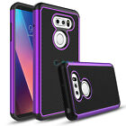 For LG V30/V30 Plus Phone Case Slim Hybrid Shockproof Hard Cover +Tempered Glass