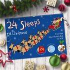 Personalised 24 Sleeps 'til Christmas A3 Book/Calender. Gift. Son/Daughter