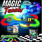 MAGIC TRACKS 220 & 360Glow in the Dark LED LIGHT UP RACE CAR Bend Flex Racetrack