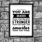 Motivational Inspirational Positive Thoughts Quote Poster Picture Print Wall 38