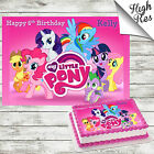 MY LITTLE PONY RECTANGLE BIRTHDAY CAKE TOPPER DECORATION PERSONALISED