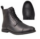 TIMBERLAND MEN'S COBLETON BLACK LEATHER CAP TOE SIDE ZIP ANK