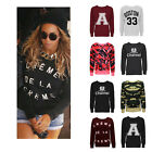 CLEARANCE NEW LADIES SLOGAN LOGO WOMENS SWEATSHIRT FLEECE GRAPHIC TOP JUMPER