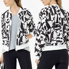 Women's Printed Baseball Coat Long Sleeve Zipper Casual Slim Jacket Outwear Tops