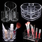 Clear Acrylic Cosmetic Organizer Makeup Cotton Brush Lipstick Holder Storage Box