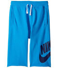 Nike Big Kids' FRENCH TERRY ALUMNI Shorts Light Photo Blue 728206-436 a