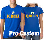 King and Queen Steelers Couple matching funny Pittsburgh team Fan cute T-Shirts