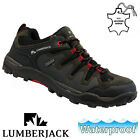 MENS LUMBERJACK LEATHER WATERPROOF OUTDOOR WALKING HIKING BOOTS SHOES TRAINERS
