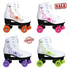 KINGDOM GB VECTOR QUAD DISCO ROLLER SKATES GIRLS JUNIOR WOMENS BOOTS PINK PURPLE