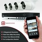 4MP 8CH/ 4CH IP Security Surveillance System with 4x 4MP Camera with Audio IP66