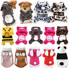 Pet Dog Cat Puppy Jacket Coat Winter Clothes Hoodie Sweater Warm Apparel Costume