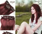 Thick Straight Hair Full Head Clip in 100% Real Remy Human Hair Extensions 120g