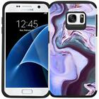 For Samsung Galaxy S7 Marble Design Hybrid Armor Case Protective Phone Cover