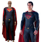 Superman Steel Spandex Cosplay Costumes With Robe Adult Christmas Jumpsuit