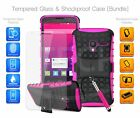 For Huawei - Shockproof Hybrid Case Cover, Glass Protector & Ret Pen