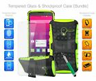 For Huawei Honor Holly 3 - Shockproof Hybrid Armor Case, Glass & Ret Pen