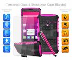 For Huawei - Shockproof Hybrid Case Cover, Glass Protector & Stylus Pen