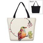 Watercolor Painting Tote Bag Large Women Canvas Shoulder Bag Daily Hobo Bag Gift