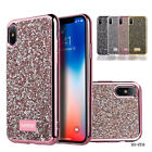 Soft Slim Silicone Bling Glitter Shockproof Case Back Cover For iPhone X / 10