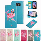 New Flamingo Pattern PU Leather Wallet Folio Flip Case Cover for Samsung S7 Edge