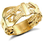 Men's Solid 9ct Gold Single Buckle Ring