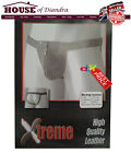 Xtreme High Quality Leather String With Zip Men Gay Sexy Underwear Thong (M109)