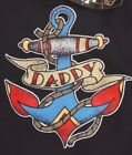 TODDLER BLACK Tee WITH NAUTICAL DADDY THEMED DESIGN NWT