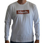 New Men's Afends Aguliera Long Sleeve Tee Shirt Top White