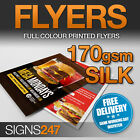 A5 LEAFLETS / FLYERS Printed Full Colour 170gsm SILK Leaflet Printing