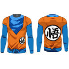 Mens Dragon Ball DBZ Compression Long Sleeve Sports Jersey T-shirt Tops Costume