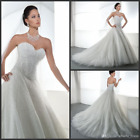 New White Ivory beads sequins sweetheart Wedding Dress Lace up Back Bridal Gowns