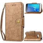 Vintage Leather Magnetic Flip Card Wallet Cover Case For Various Phone