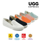 UGG Vera Slip On Comfort Flats Loafers Horsehair Casual Formal Shoes Round Toe